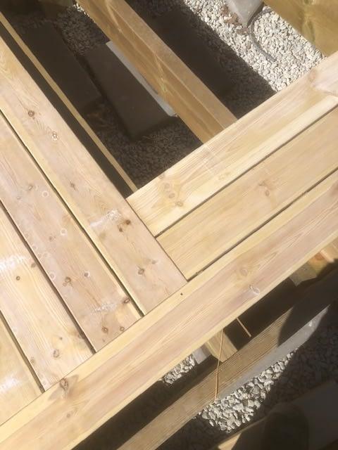 Idag skiner solen över oss när vi bygger altan runt poolen. Behöver NI hjälp ... 3