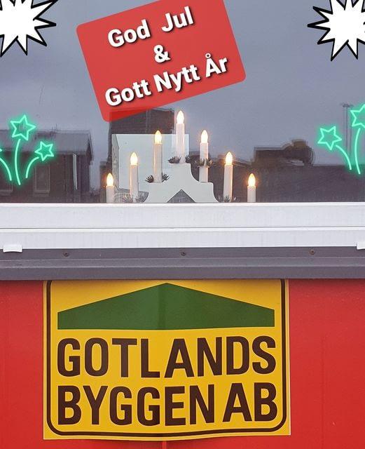 Gotlandsbyggen Önskar alla en riktig God Jul och Gott Nytt År. 1
