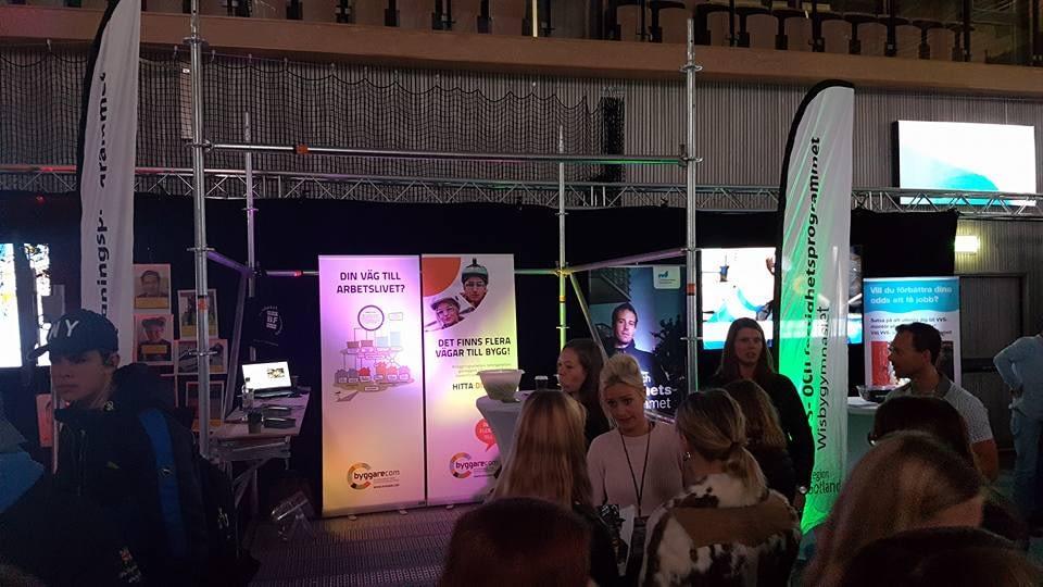 Idag är Gotlandsbyggen på gymnasieval mässan och representerar byggbranschen ... 1