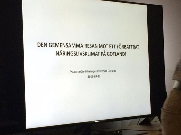 Idag har vi medverkat i företagsnätverket på Gotland. Regionen presenterade dera... 1