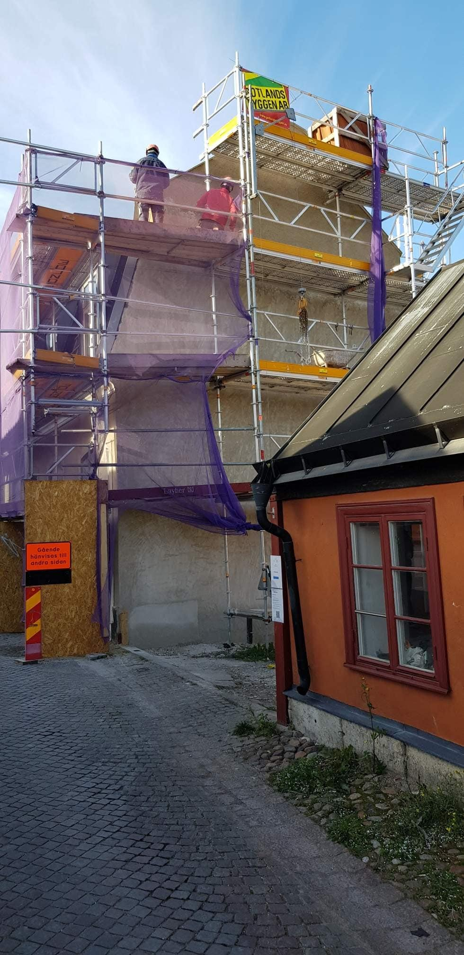 Arbeten pågår för fullt med att renovera Skölden 6 på Södra murgatan 1