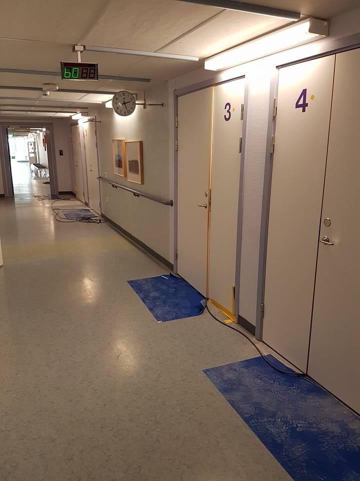 Här kommer lite bilder på renoveringen nere på infektionskliniken Lasarettet. ... 1