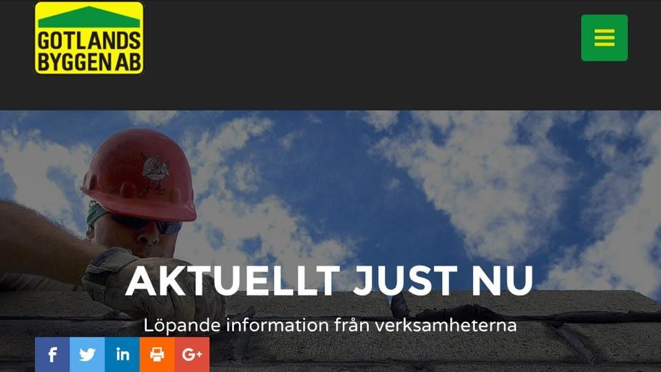 Hej! Under kvällen lanserar Gotlandsbyggen den nya hemsidan. Gå gärna in och ... 1