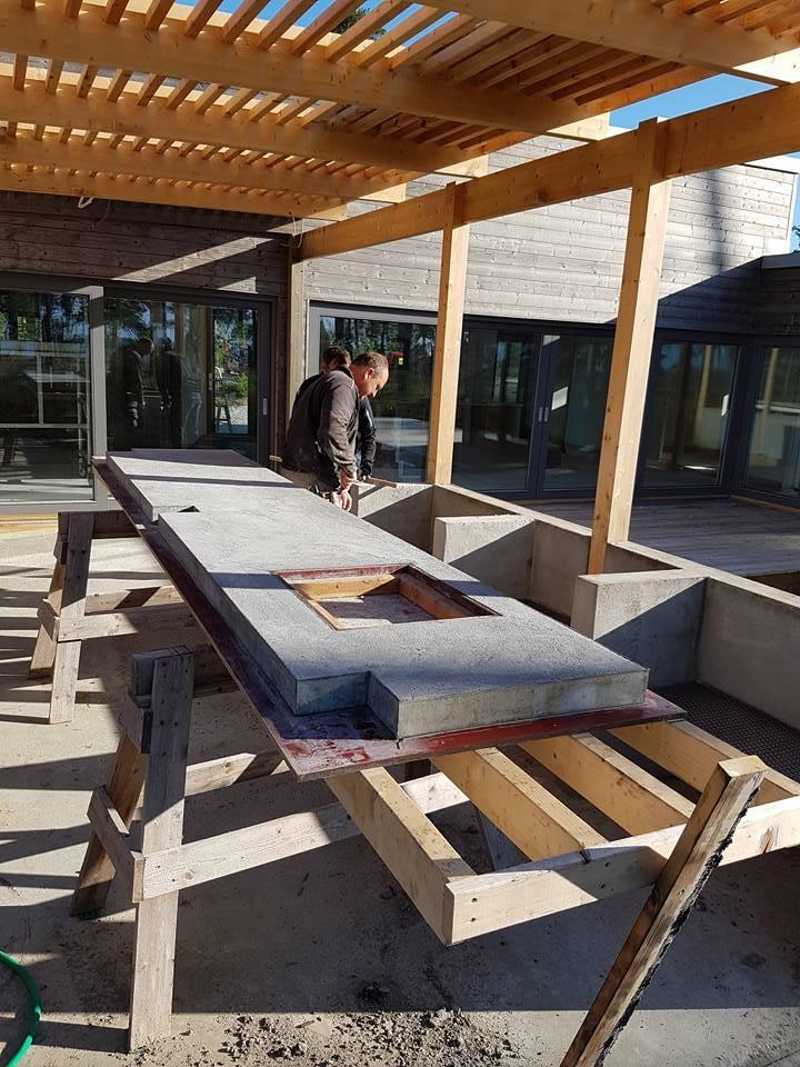 Idag är det besiktning av villan i Ljugarn. Vi håller på med att lägga betong ... 1